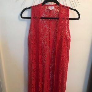 LuLaRoe Red Lace Joy XS